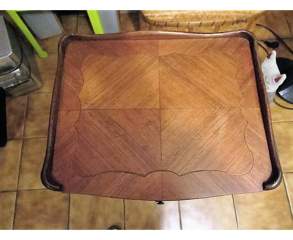 Louis XV style bedside marquetry