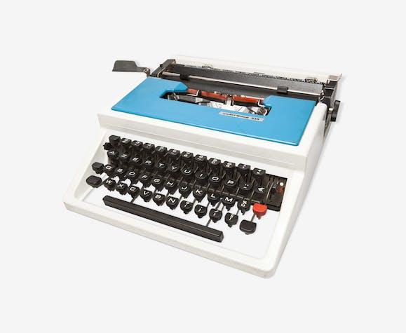 Machine à écrire Underwood 315 portable bleue et noir