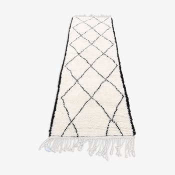 Berber rug Beni ouarain rug  250x85 cm