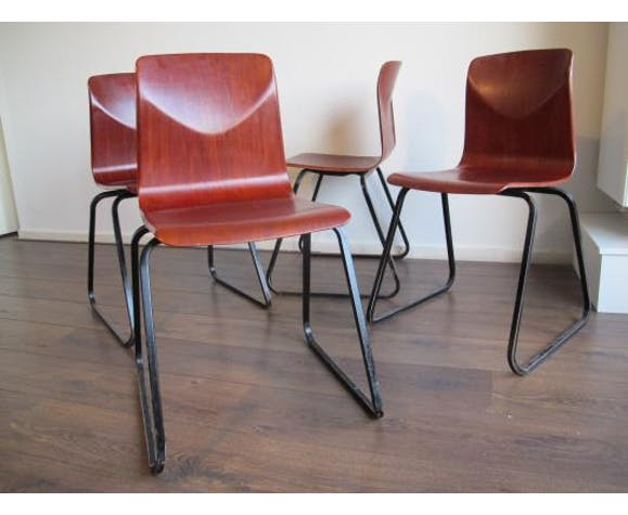 Galvanitas industrial Vintage chairs, 1960 s, Set of 4