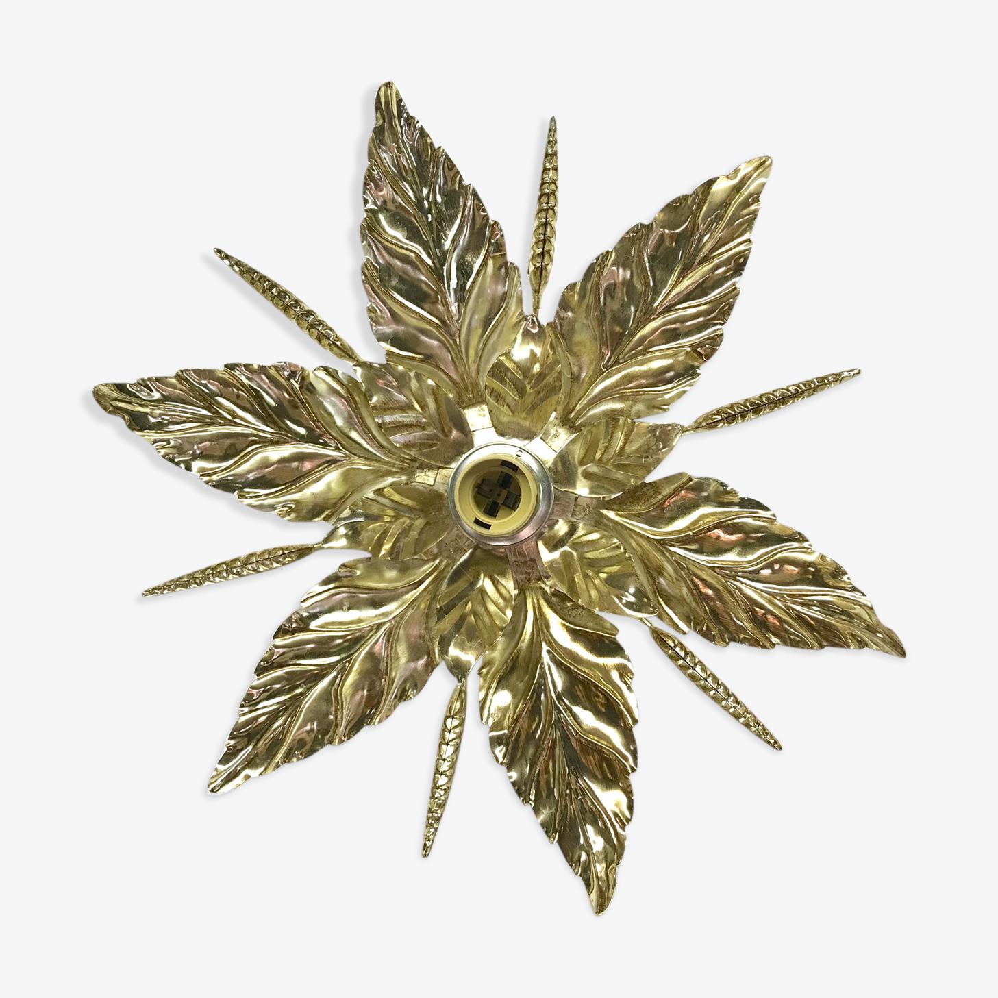 Applique plafonnier fleur dorée