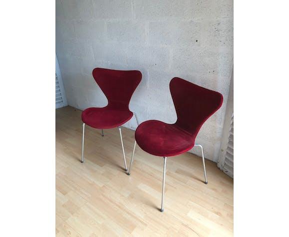 Duo de chaises Arne Jacobsen design 50