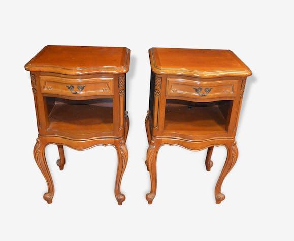 Chevets de style louis XV en merisier (la paire) - wood - classic ...