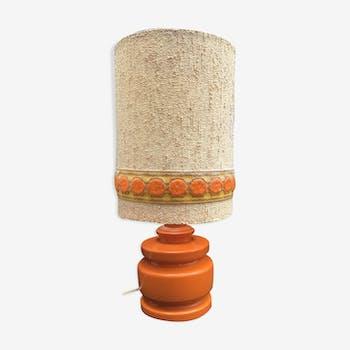 Lampe en céramique orange 1970