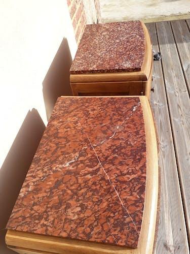 Chevets chêne et marbre
