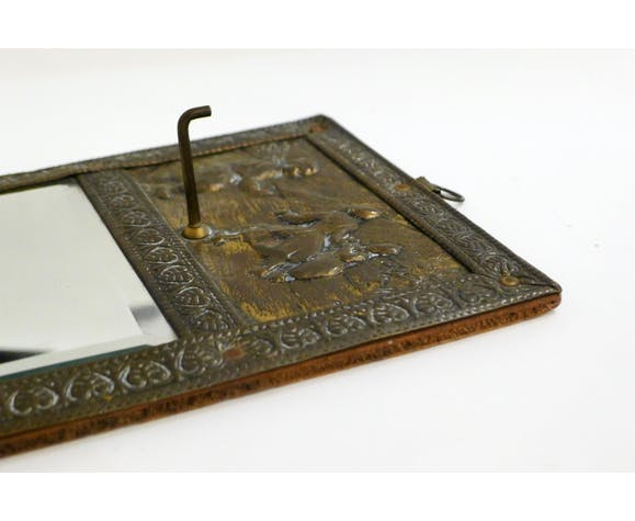 Small Wall Mirror Repulsed Metal Frame 16x30cm Selency