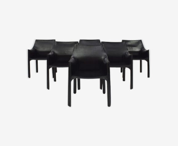 Armchairs Model Cab 413 Mario Bellini For Cassina Leather