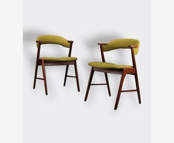 Chaises scandinave design vintage danemark 1960 kai kristiansen bois mat riau vert - Chaises scandinaves vintage ...