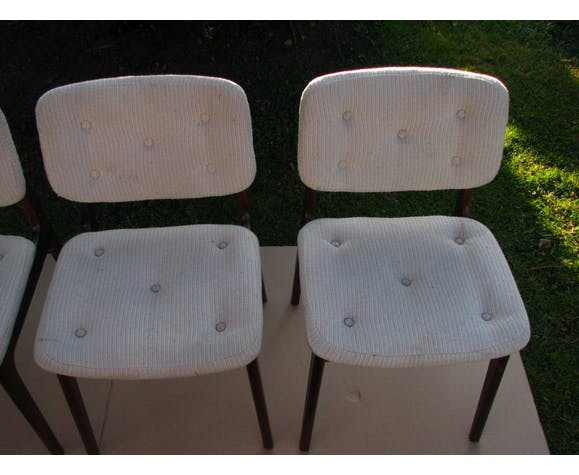 Ensemble de quatre chaises vintage