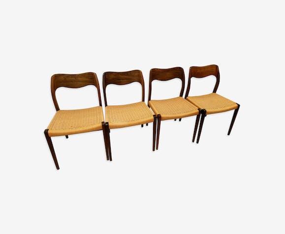 Série 4 chaises palissandre