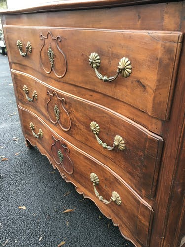 Curved chest of drawers Louis XV