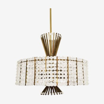 Breathtakingly beautiful Mid Century Modern chandelier by Emil Stejnar for Rupert Nikoll