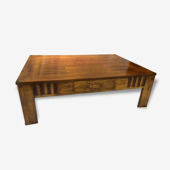 Coffee table in solid wood (marquetry)