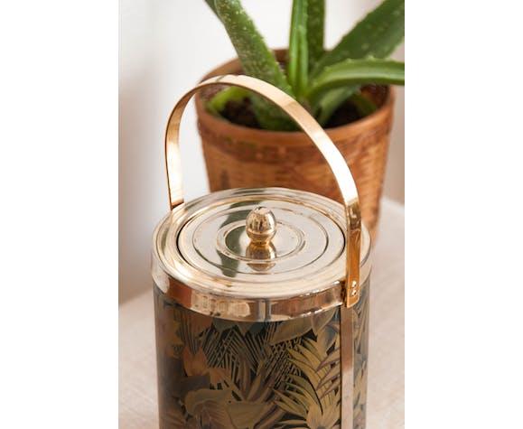 Seau à glaçons vintage doré & motifs originaux irisés