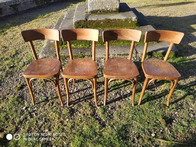 Lot de 5 chaises bistrot Thonet vintage