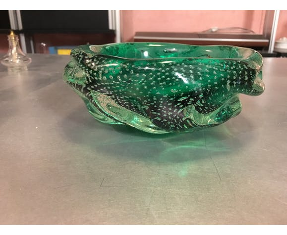 Blown glass ashtray