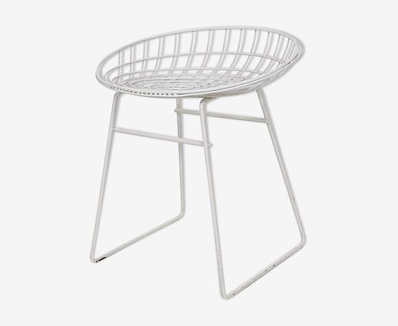 Cees Braakman for Pastoe KM05 metal wire stool, The Netherlands 1953