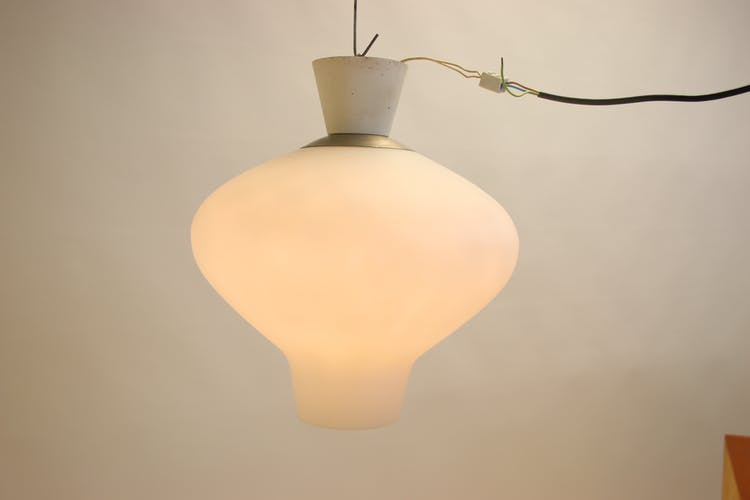 Milk white outdoor lamp from ASEA from the 50s