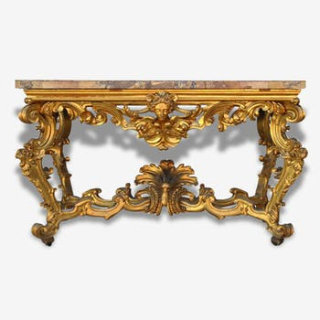 Large console rocaille style XIX