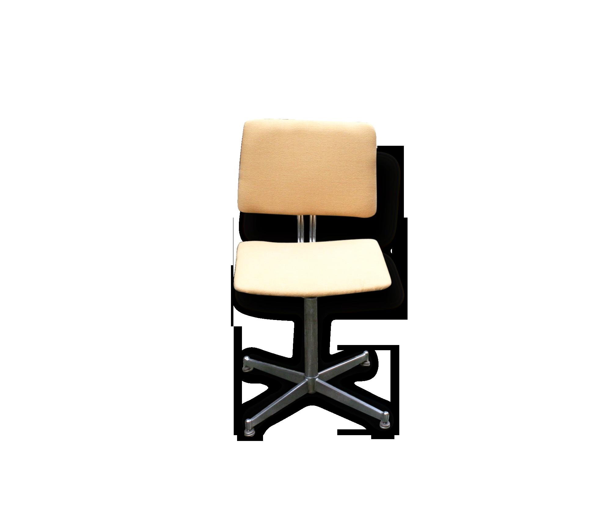 Chaise de bureau jaune vintage métal jaune industriel