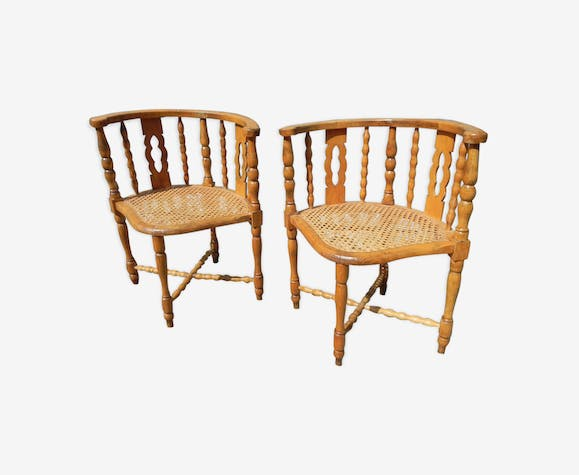 Pair of angle chairs