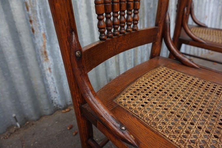 Chaises de salle à manger de campagne Heywood et Wakefield Chigago