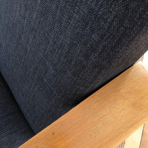 Fauteuil années 70 entierement restaure tissu gris
