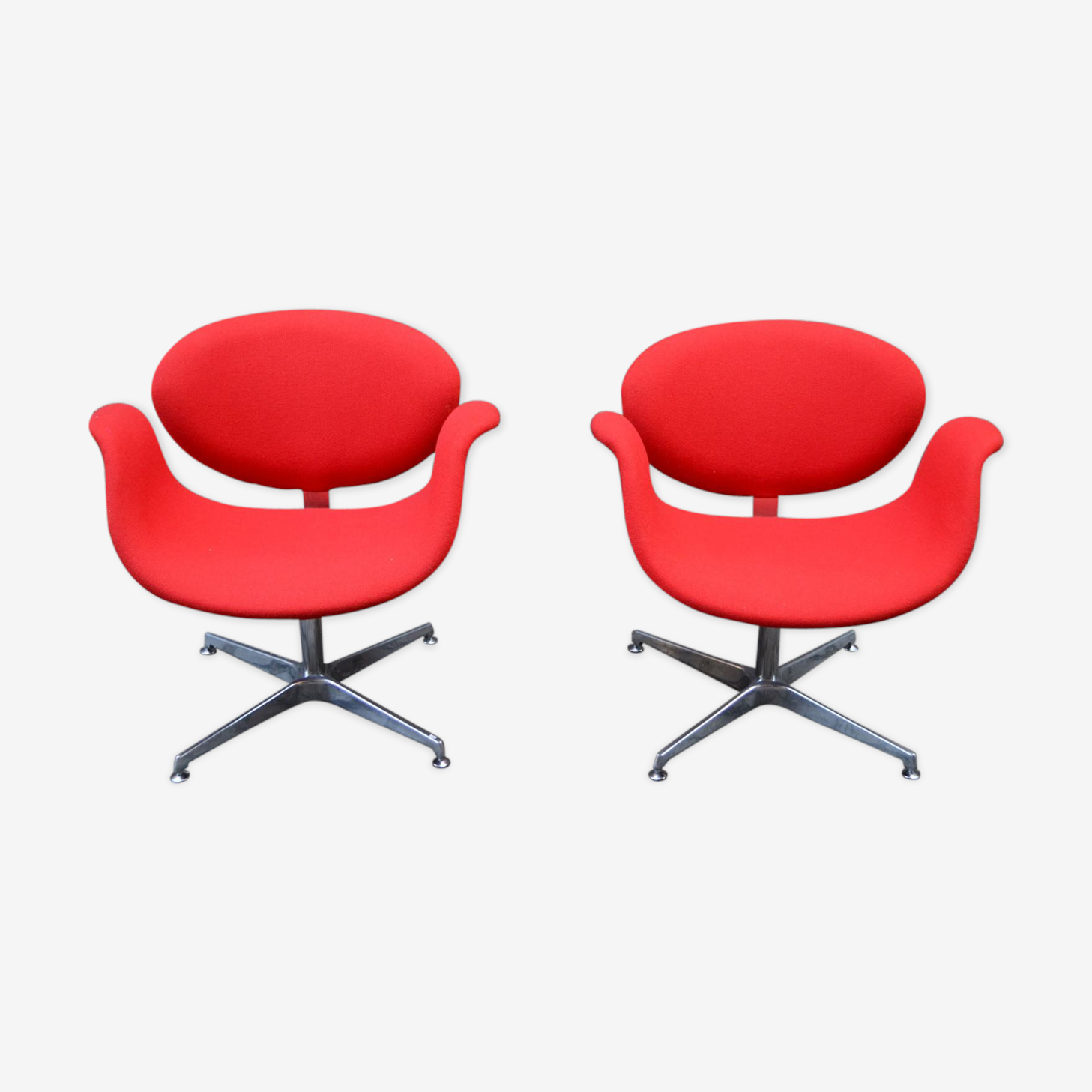 Lot of two tulip armchairs by Pierre Paulin for Artifort, 1960