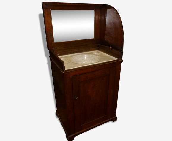 rare meuble vasque pour salle de bain 19e tr s bon tat bois mat riau marron. Black Bedroom Furniture Sets. Home Design Ideas
