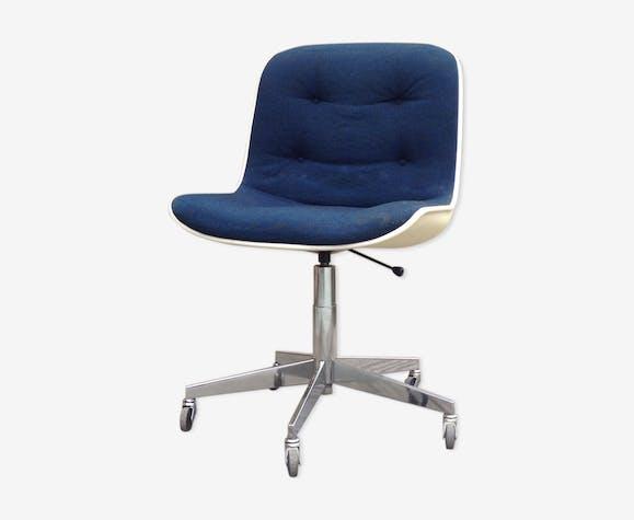 Chaise Design Roulettes À Knos6of Bleu Bureau Tissu De txrdBhsCQ