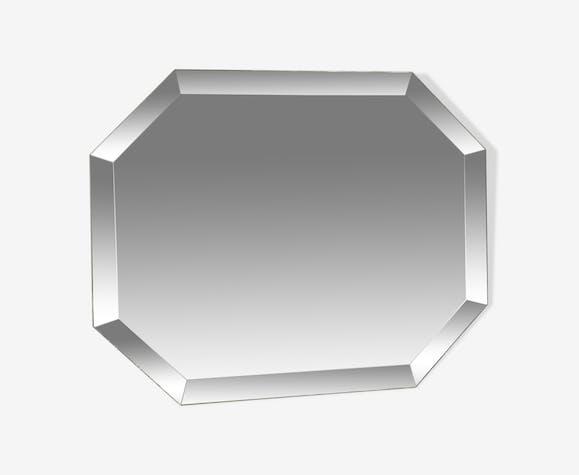 Beveled octagonal mirror 50x40cm