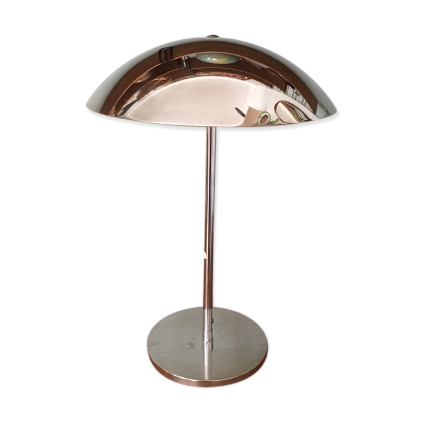 Lampe Champignon Design Chromée Vintage Lumess - Métal - Argent