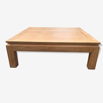 Table basse chêne céruse