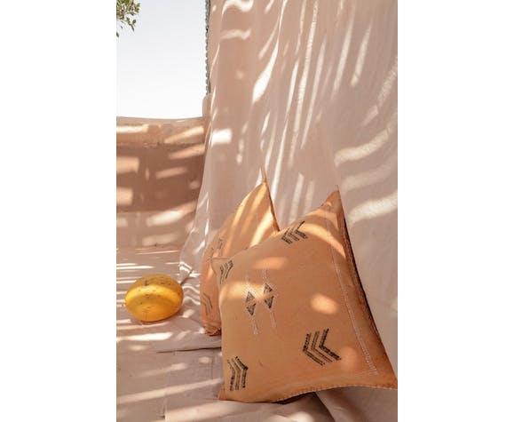 Coussin sabra mandarine  45 x 45 cm