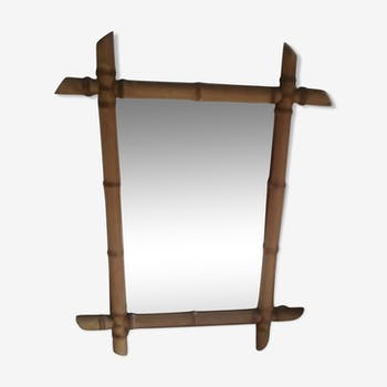 Vintage bamboo mirror