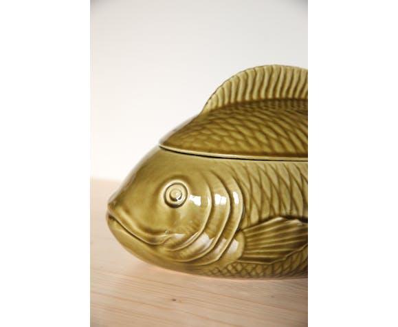 Plat en céramique poisson