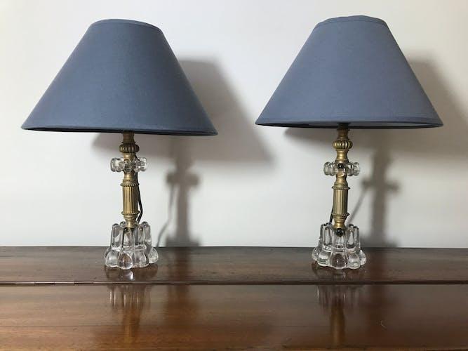 Paire de lampes de chevet années 60