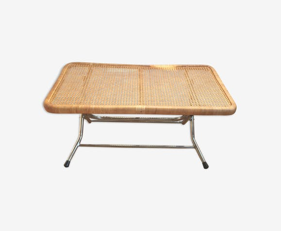 Coffee table folding tray caning