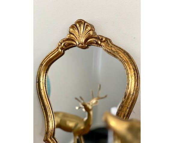 Ancien miroir doré 32x23cm