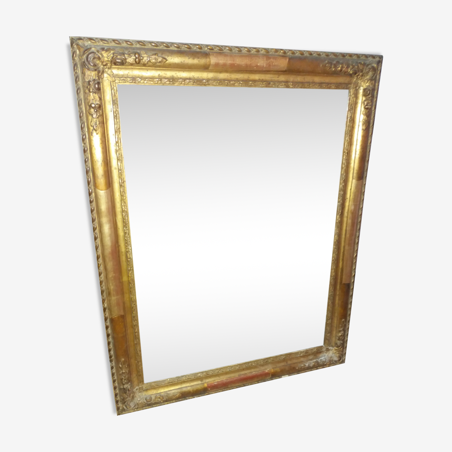 Wooden and stucco mirror 1850 - 45,5x58cm