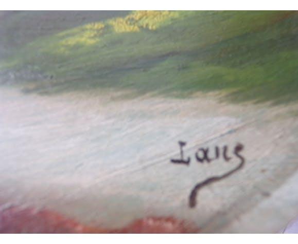 Marine oil painting