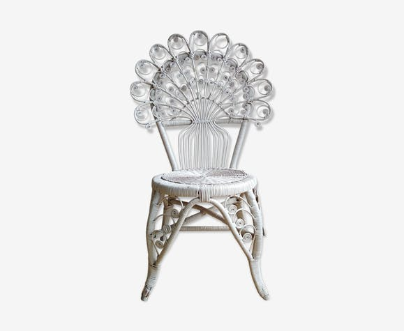 Peacock Chair Rattan White Of The 1970 Rattan And Wicker White