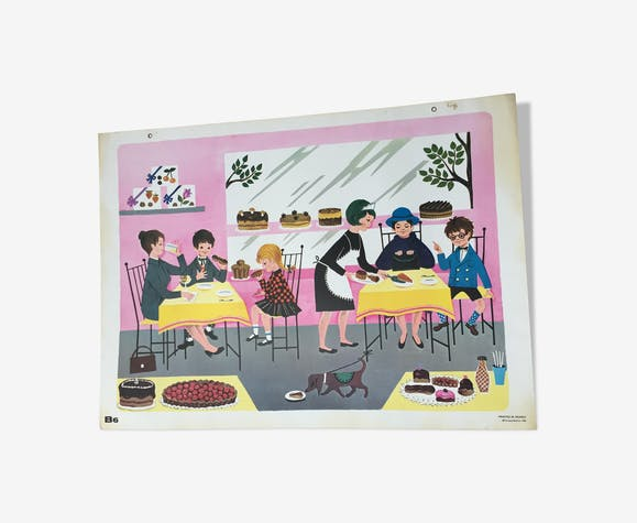 Affiche scolaire Fernand Nathan 1966