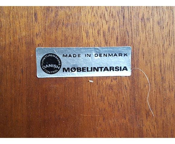Table Basse Ronde Palisandre De Rio Mobelintatsia Danemark 60
