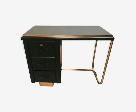 Bureau métal noir et doré années 40 50 métal noir vintage