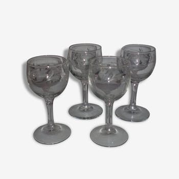 lot verres bistrot verre et cristal transparent vintage 21388. Black Bedroom Furniture Sets. Home Design Ideas
