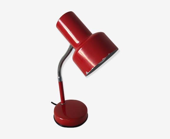 32cm Rouge Veneta Lampe De Bureau Vintage Métal 1960 Lumi 5KcTl13uFJ