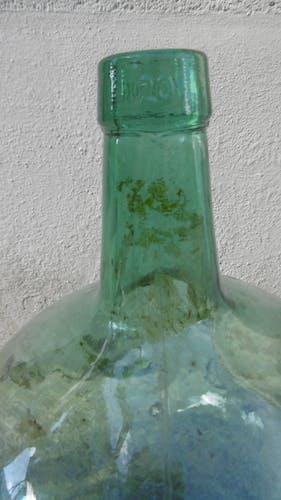 Dame jeanne ancienne en verre
