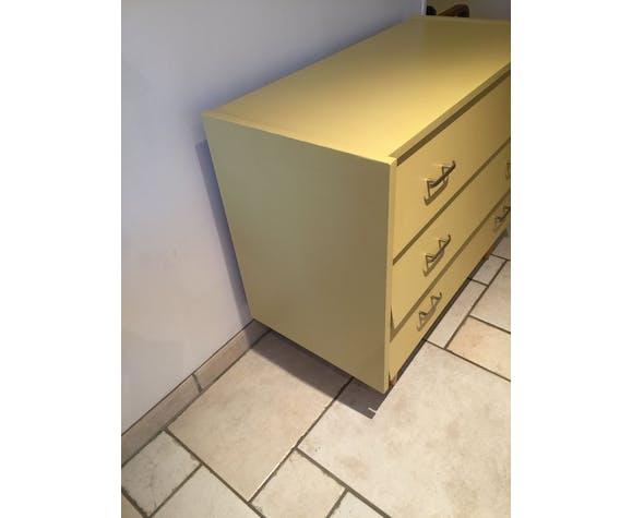 Commode vintage jaune