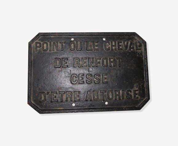 Plaque ancienne en fonte cheval de renfort fonte noir - Plaque de cheminee en fonte le bon coin ...